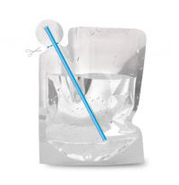 Doypack with straw inside
